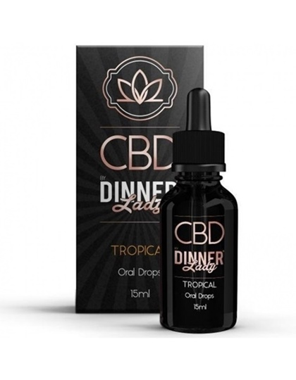Picture of Dinner Lady Oral Drops Tropical 15ml 1000mg