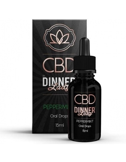 Picture of Dinner Lady Oral Drops Peppermint 15ml 250mg
