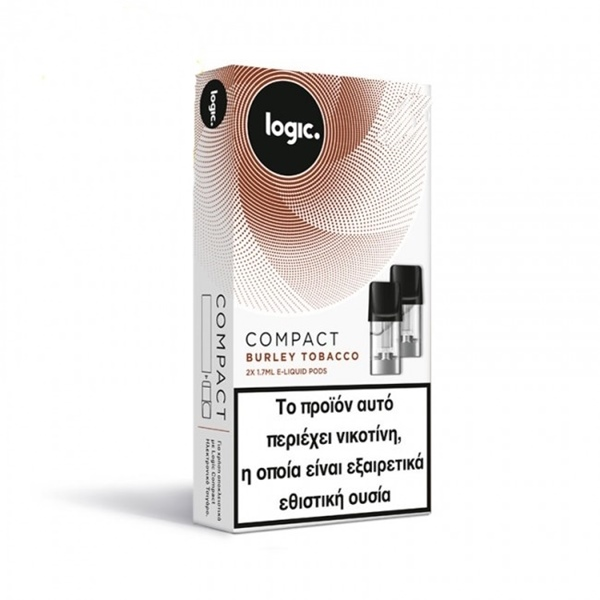 Picture of Logic Compact Burley Tobacco 12mg - 2x Κάψουλες