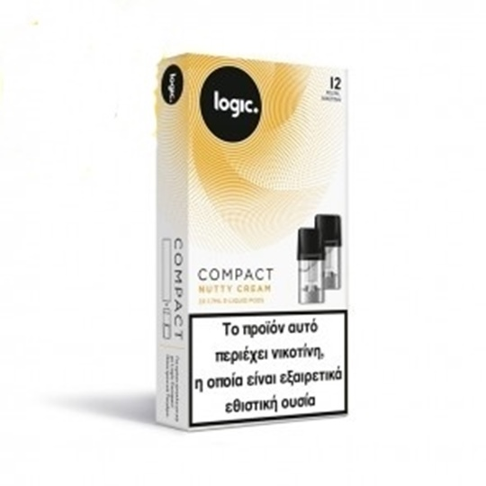 Picture of Logic Compact Nutty Cream 12mg  - 2x Κάψουλες