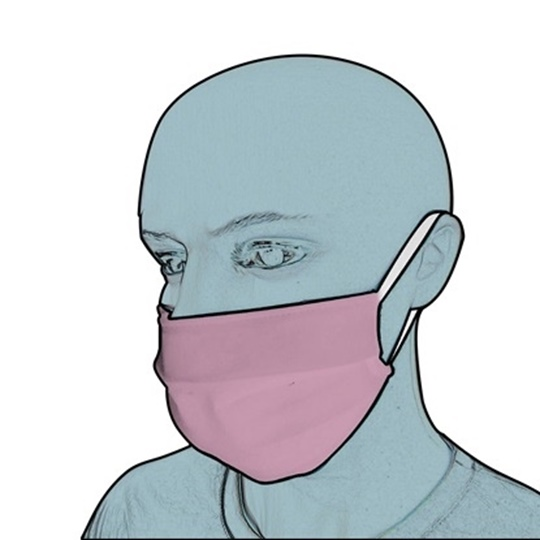 Picture of Protective Fabric Face Mask Pink (3 τμχ)