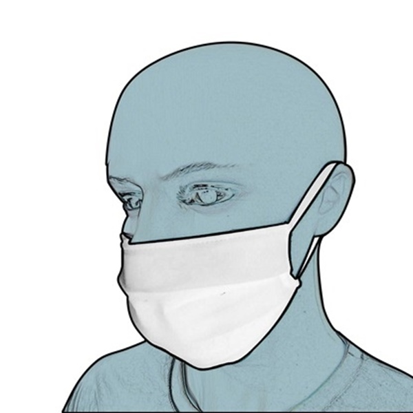 Picture of Protective Fabric Face Mask White (3 τμχ)