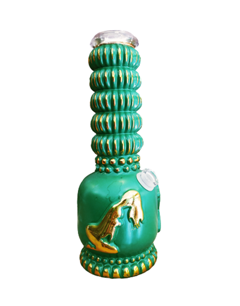 Picture of Stripper Heavy Bong - Vintage Green/Gold - 27cm