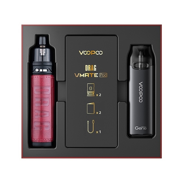 Picture of VooPoo Drag X Pod Kit Marsala and VMATE Pod Kit Limited Edition