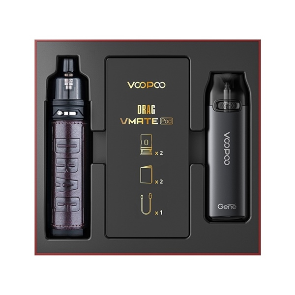 Picture of VooPoo Drag X Pod Kit Chestnut and VMATE Pod Kit Limited Edition