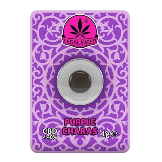 Picture of Legal Weed Charas 1gr Purple Haze 40% CBD