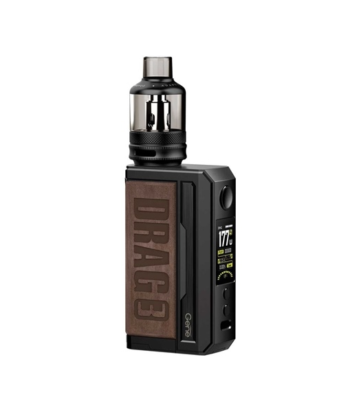 Picture of VOOPOO DRAG 3 177W TC Box Mod Kit with TPP 5.5ml Sandy Brown
