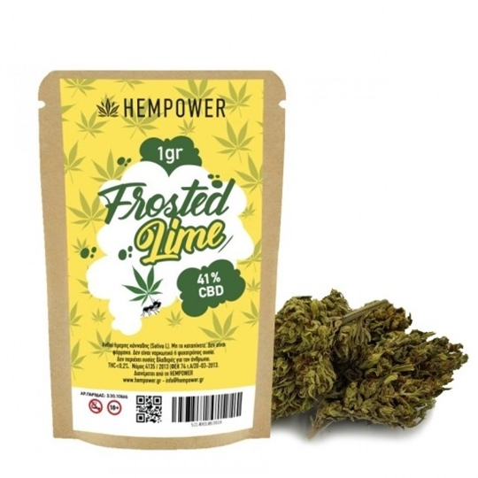 Picture of Hempower Ανθός Κάνναβης FROSTED LIME 41% CBD 1G