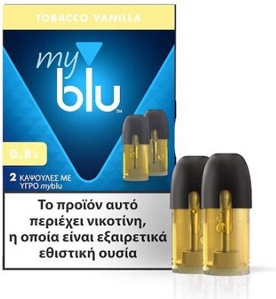 Picture of MyBlu Tobacco Vanilla 2 Pods 0.8%