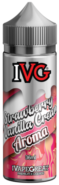 Picture of IVG Strawberry and Vanilla Cream Flavor Shots 120ml