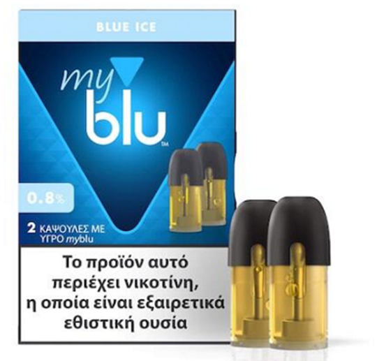 Picture of MyBlu Blue Ice 2 Pods 0.8%