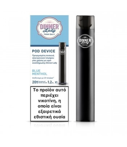 Picture of Dinner Lady Disposable Blue Menthol 20mg 1,2ml