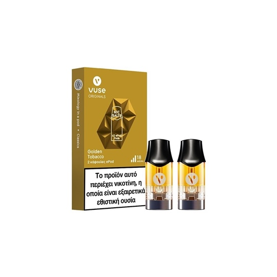 Picture of Vuse ePod Golden Tobacco 2pods Nic Salts 18mg